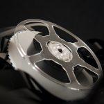 Bobina de filme a preto e branco